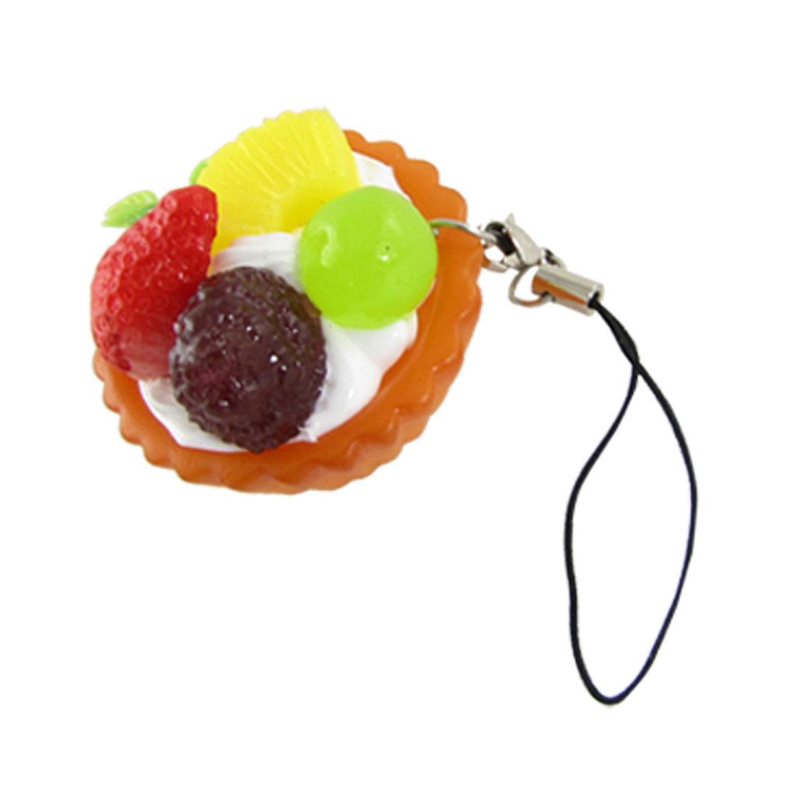 Cell Phone Ornamen Plastic Fruit Ice Cream Bowl Shape Pendant