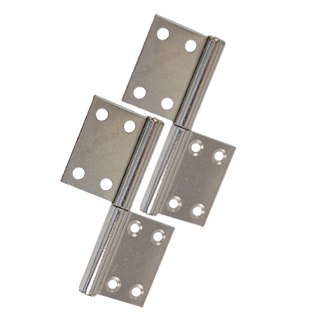 "Door Hardware Chrome Plated Metal 3.7"" Gates Flag Hinges 2 Pcs"