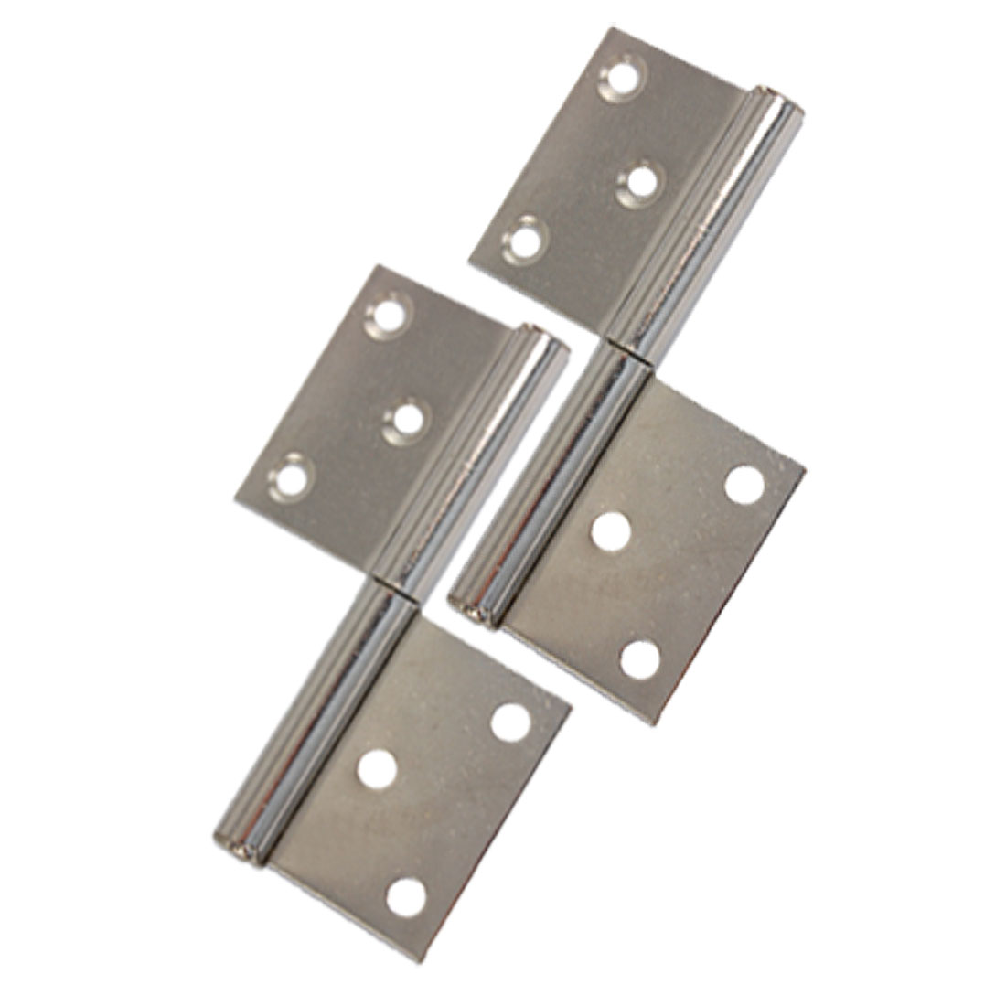 2 Pcs Polished Metal Two Leaves Door Gates Flag Hinges