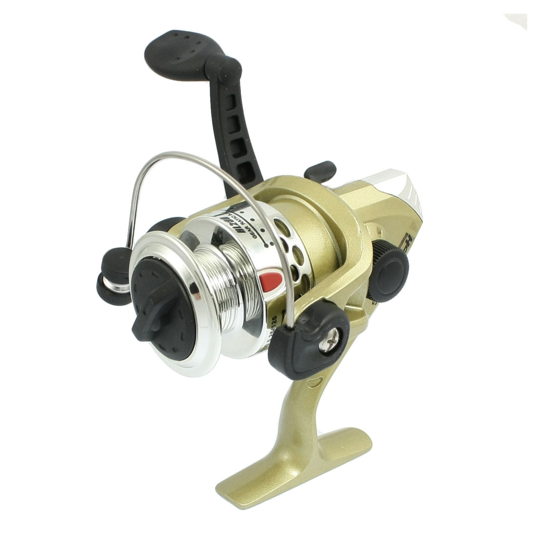 Silver Tone Black Bronze Tone 5.2:1 Gear Ratio Fishing Spinning Reel