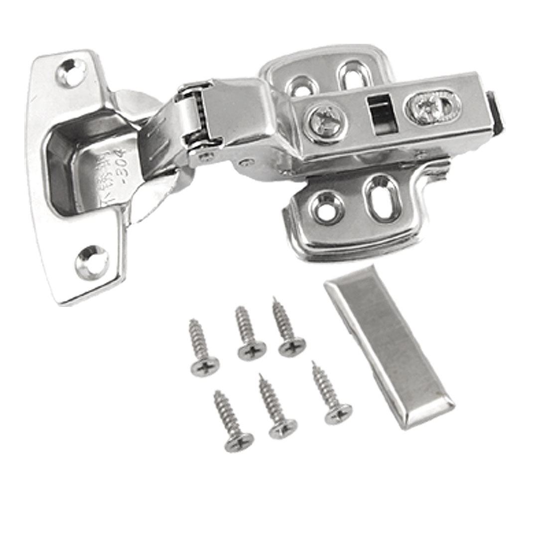 Home Furniture Insert Concealed Cabinet Hinge Silver Tone