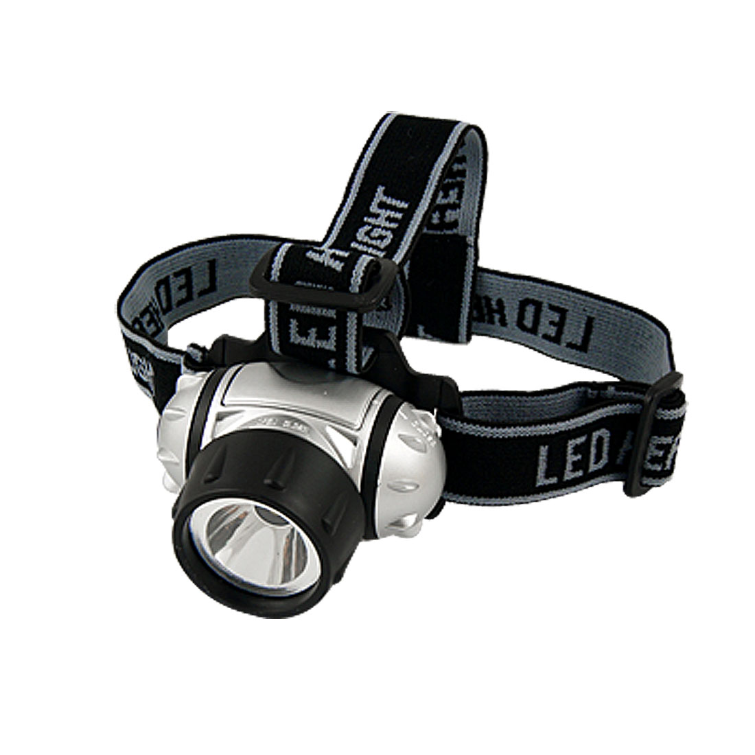 Elastic Adjustable Strap 3 Mode 1W LED Silver Tone Black Head Lamp Light