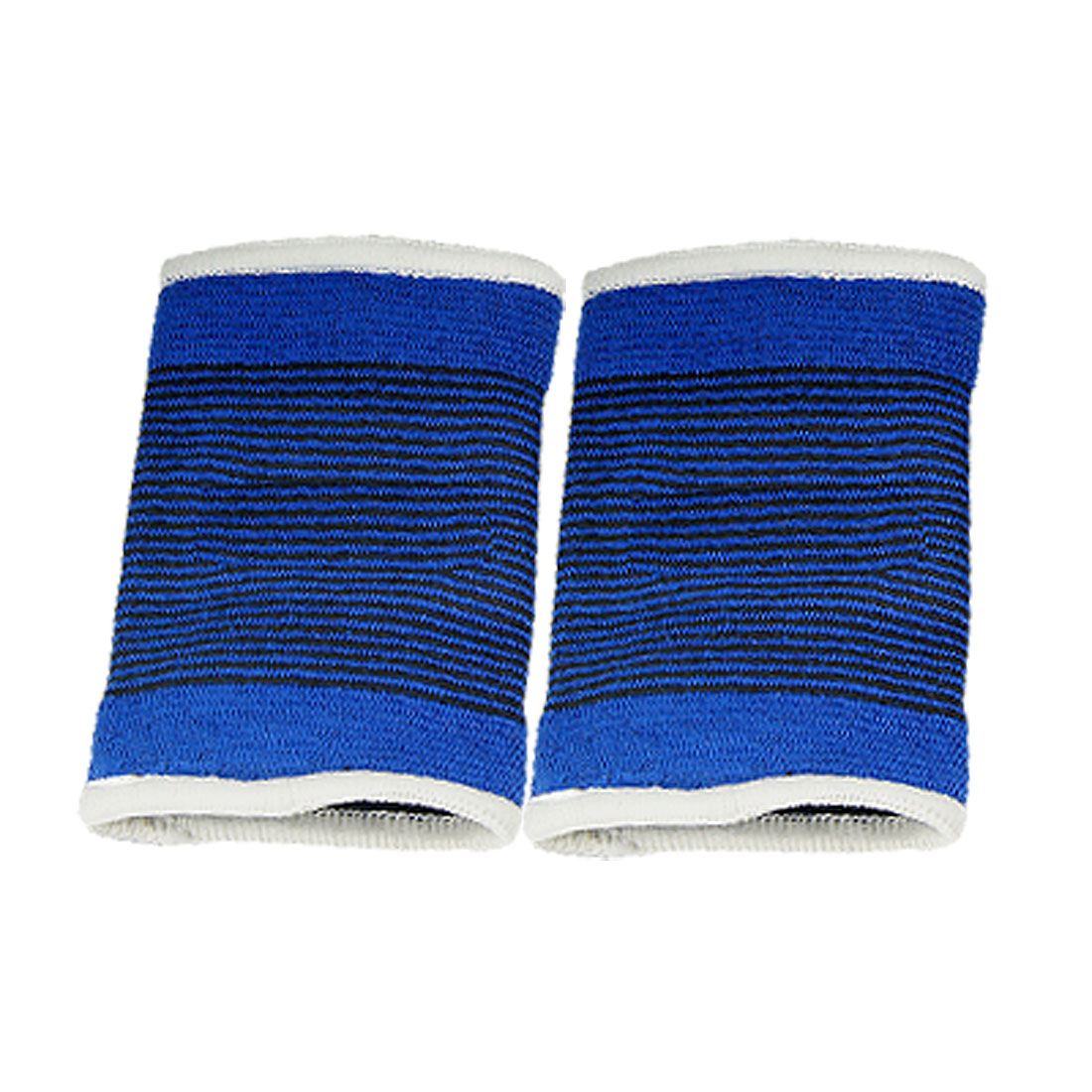 2 Pcs Black Pinstripe Blue Elastic Wrist Support Brace