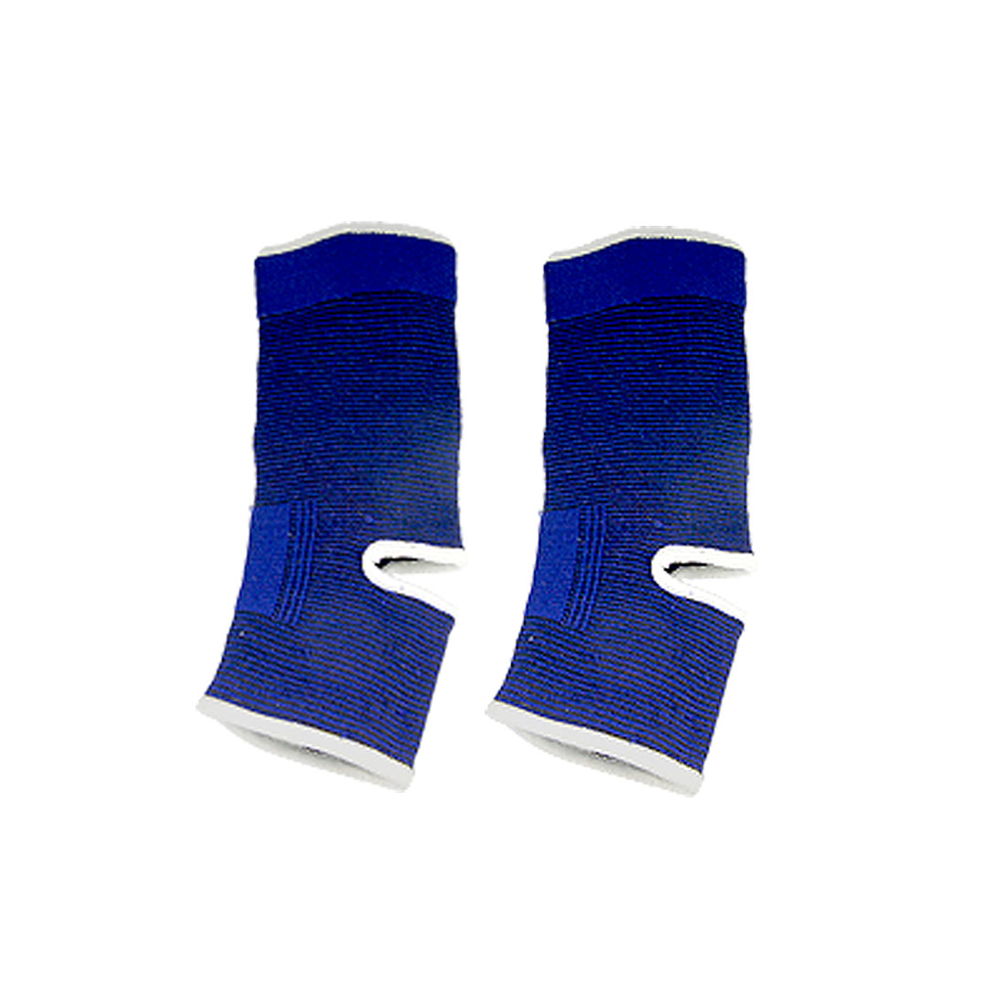 2 Pcs Blue Pinstrip Ankle Elastic Sleeve Support Protector Brace