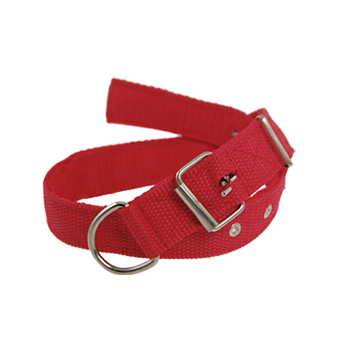 Single Pin Buckle Pet Dog Red Leash Collar 3cm Width