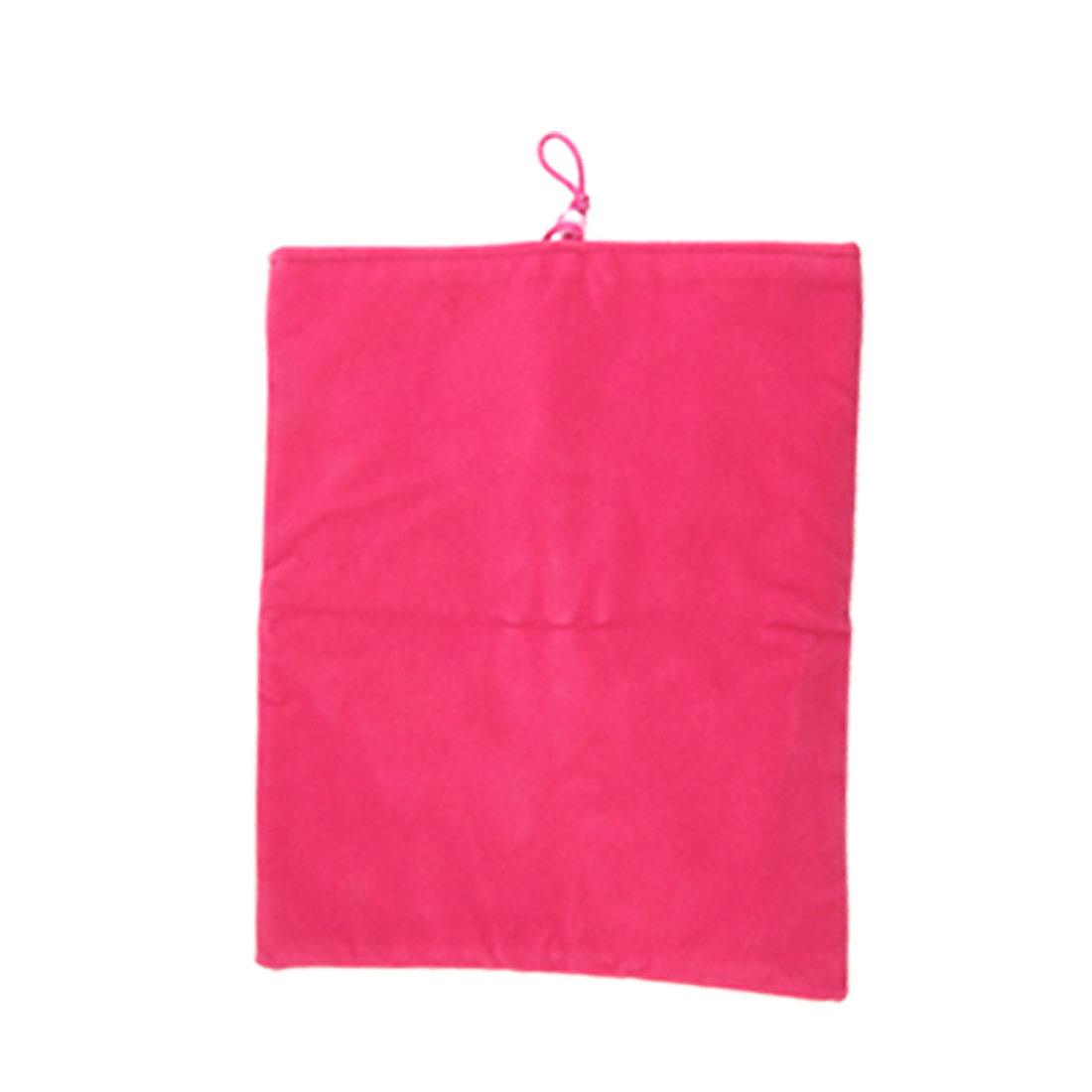 """10"""" 10.1"""" Fuchsia Velvet Sleeve Bag Pouch for Apple iPad 1 2 Tablet PC"""