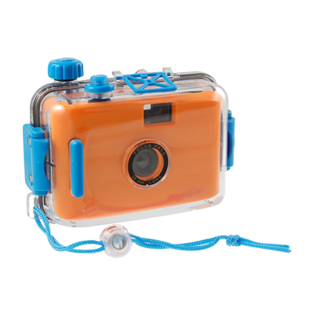 Kids Orange Black Plastic Waterproof Casing Fake Camera Toy