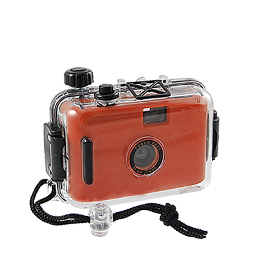 Kids Red Black Hard Plastic Clear Waterproof Casing Dummy Camera Toy