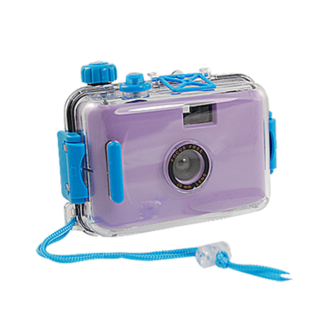 Purple Black Emulational Underwater Camera Toy w Waterproof Casing