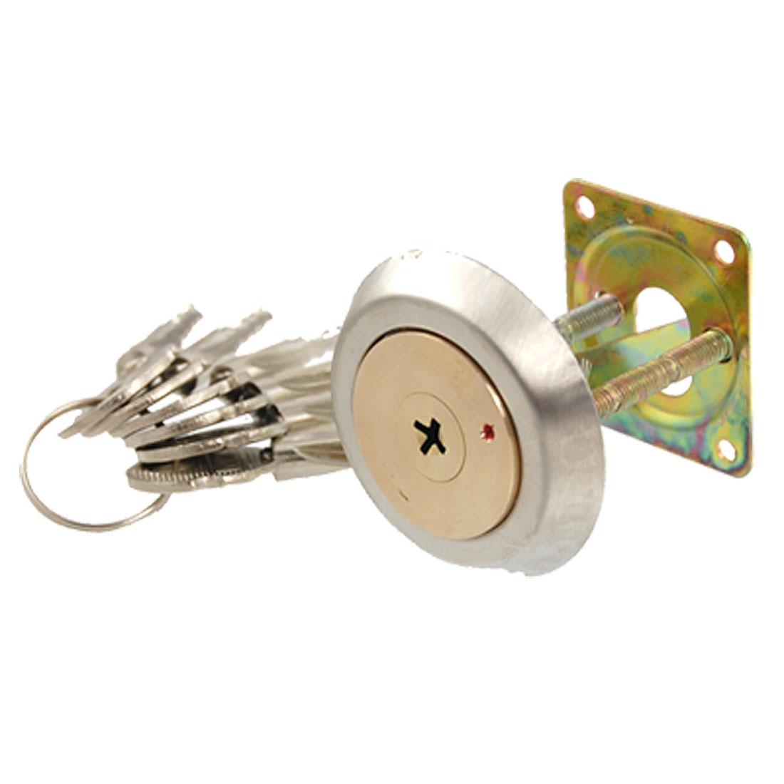 Mortise Gate Cross Keyhole Tapered Ned Door Lock w Keys