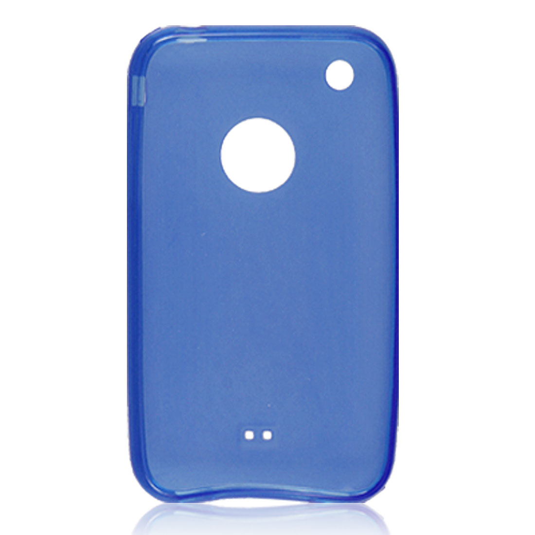 Smooth Blue Soft Case Plastic Guard Cover for Apple iPhone 3G
