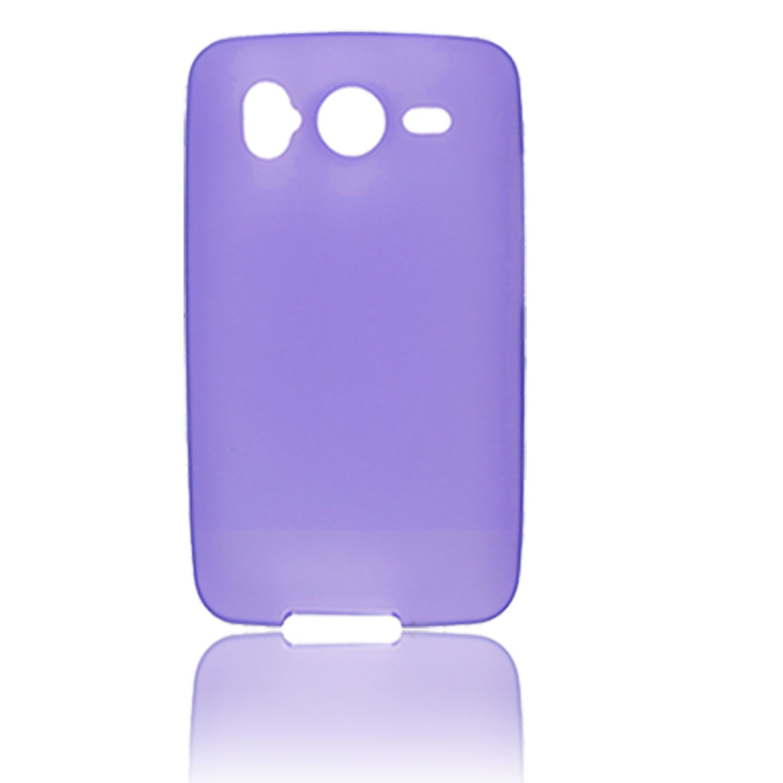 Purple Soft Plastic Protective Case Cover for HTC Desire HD