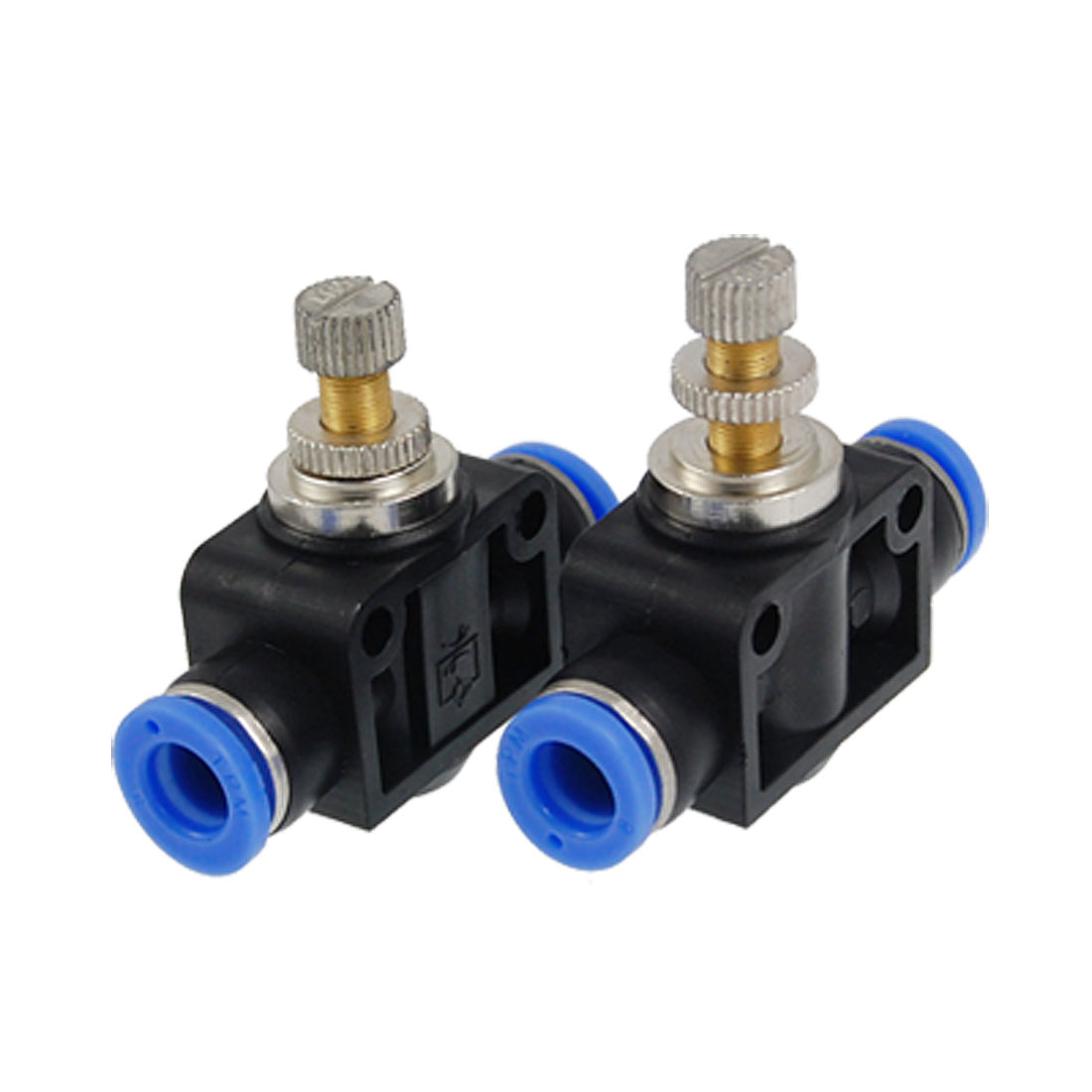 2 Pcs Two Way Push in to Connect Fitting Speed Controller 8mm