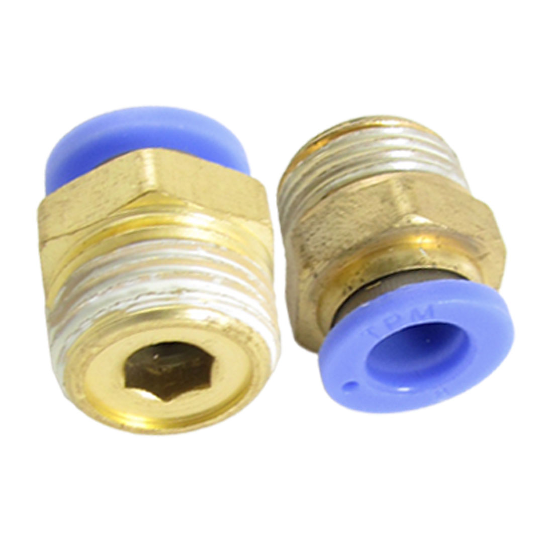 8mm x 16mm Push in One Touch Pneumatic Straight Fittings 2 Pcs