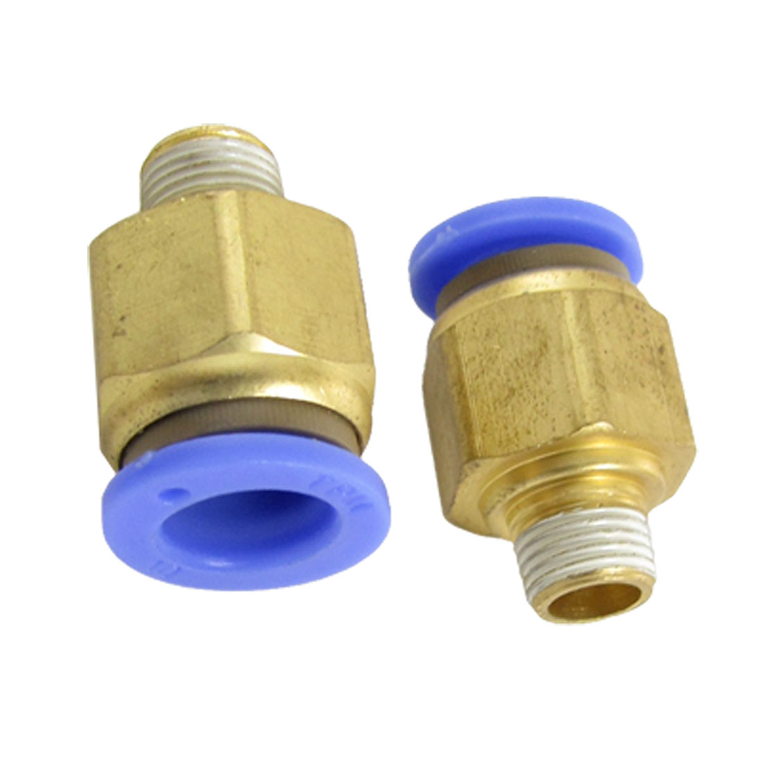 10mm Pneumatic Tube Push to Connect Quick Fittings 2 Pcs