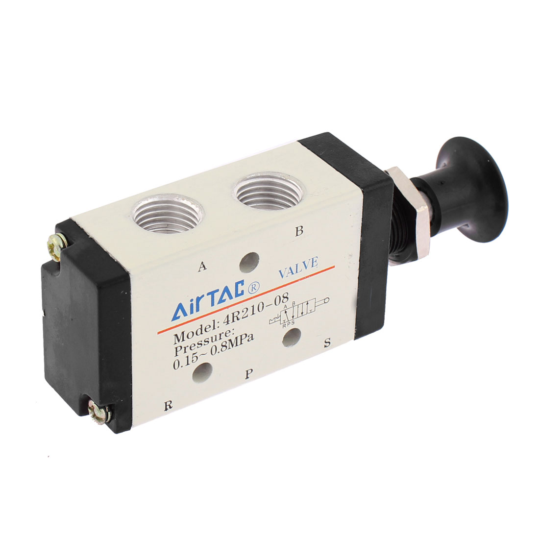 4R210-08 5 Way 2 Position Hand Lever Solenoid Valve