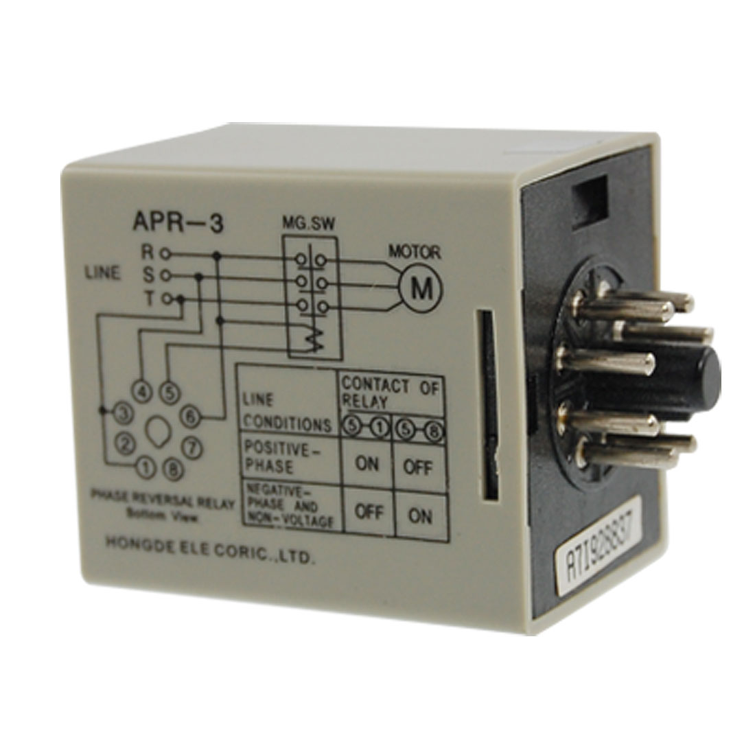 AC 220V Failure Phase Sequence Protect Phase Reversal Relay APR-3