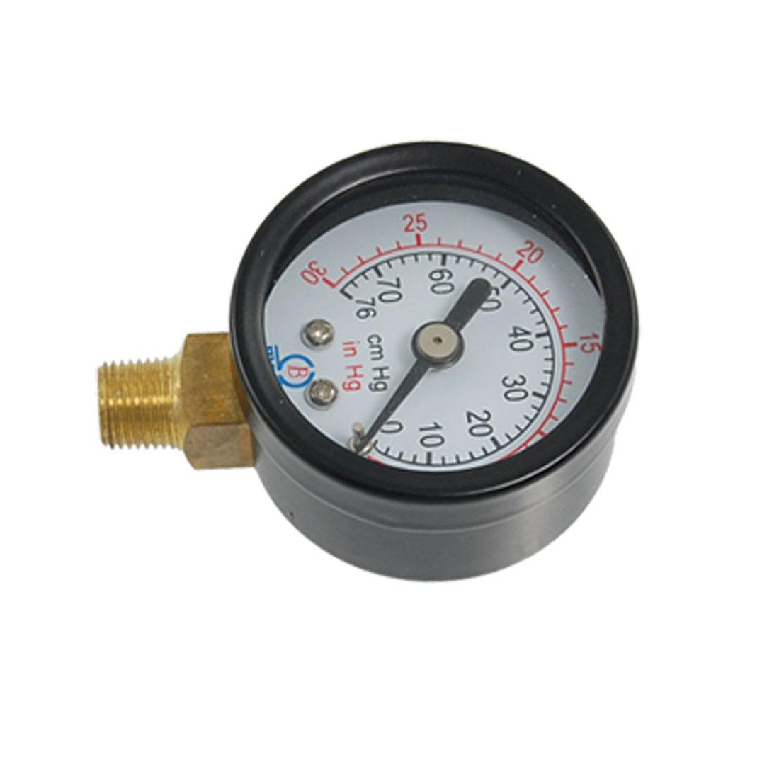 "-30/0Hg 0.35"" Male Threaded Pneumatic Air Vacuum Pressure Gauge"