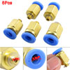 Pneumatic 6mm Hole 5mm Thread Quick Fitting Connector 5 Pcs