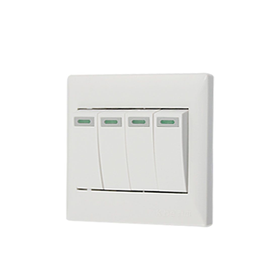 Plastic Replacement SPST On/Off 4 Gang Wall Switch Plate