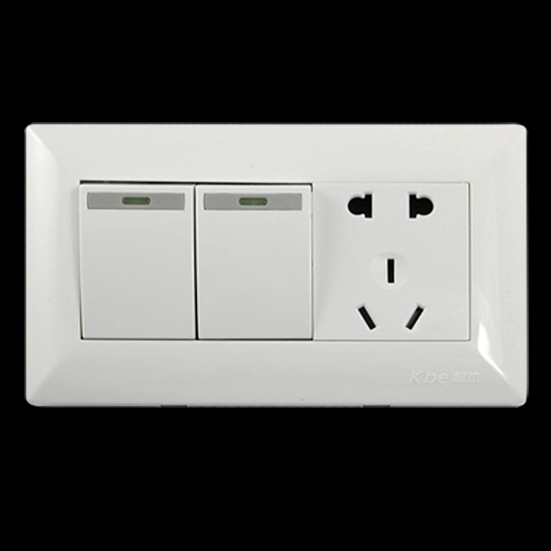 Universal Wall Mount Switch Plate for AU 2 Pin US EU Plug