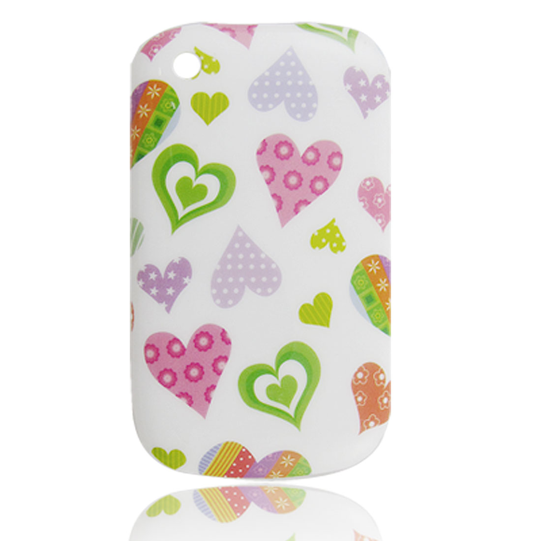 Colorful Hearts Pattern Hard Plastic Back Case for Blackberry 8520