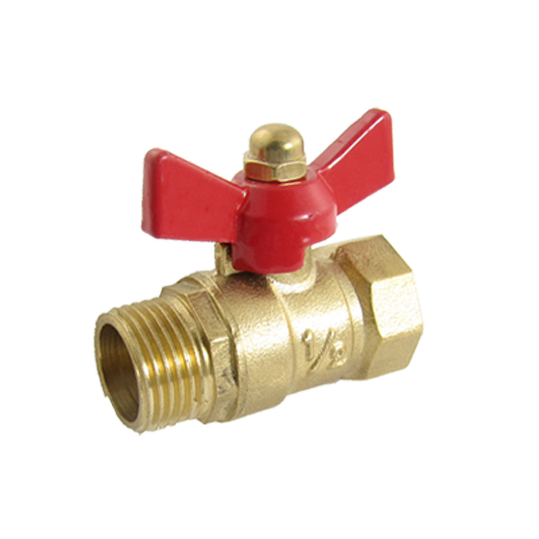 "0.73"" Female 0.63"" Male Thread Lever Handle Ball Valve"