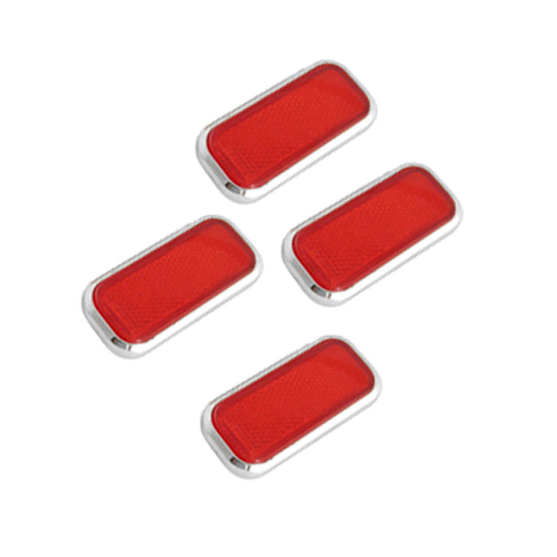 Red 3D Rectangle Shape Reflective Sticker for Car Vehicle
