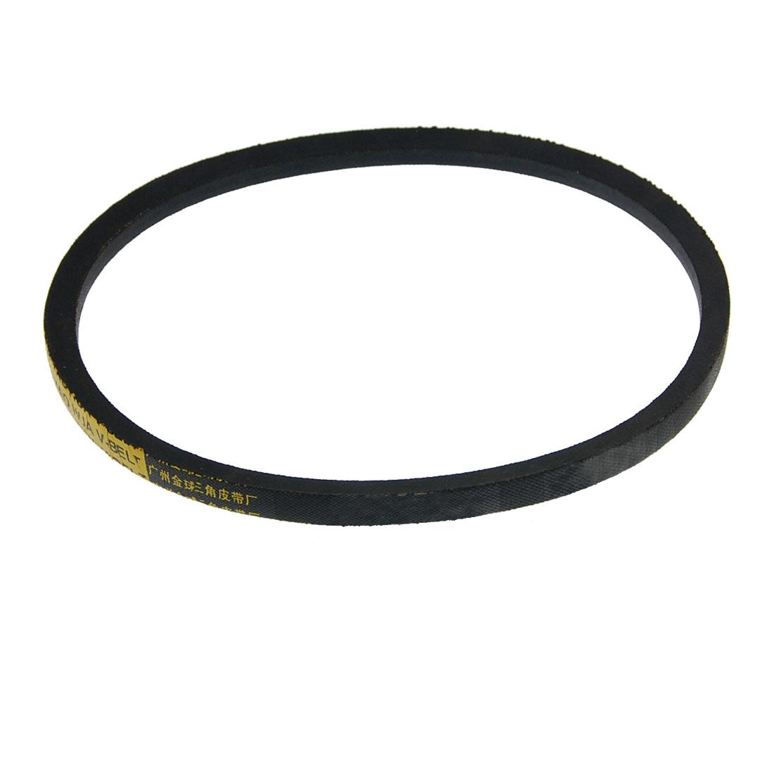 Transmission A Type 700mm Inner Girth Rubber Vee Belt Black