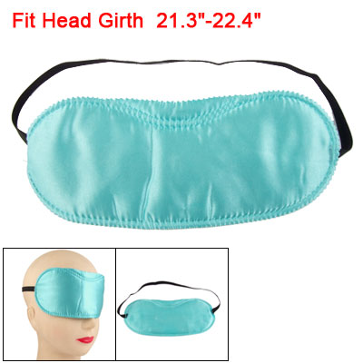 Black Stretchy Band Baby Blue Stitched Lettuce Trim Protective Eye Mask