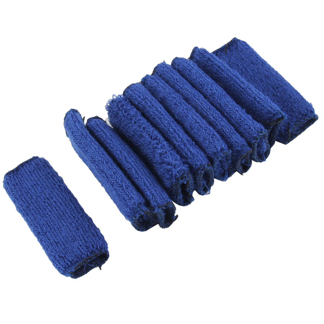 10 Pcs Blue Elastic Sports Hand Protector Sleeve for Finger