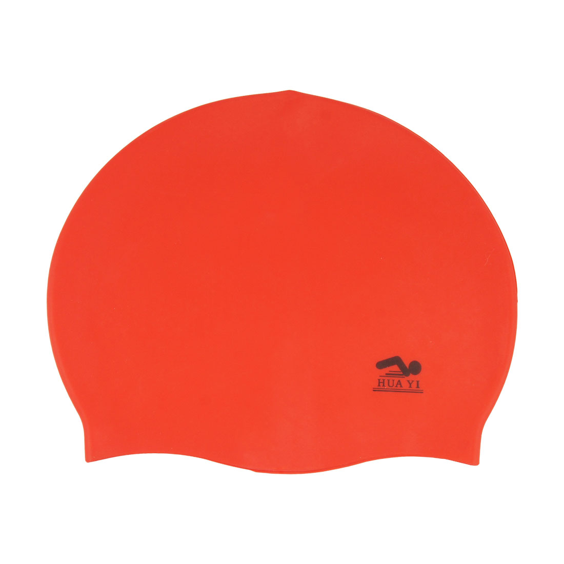 Red Flexible Soft Silicone Inside Grains Swimming Cap Hat for Adult