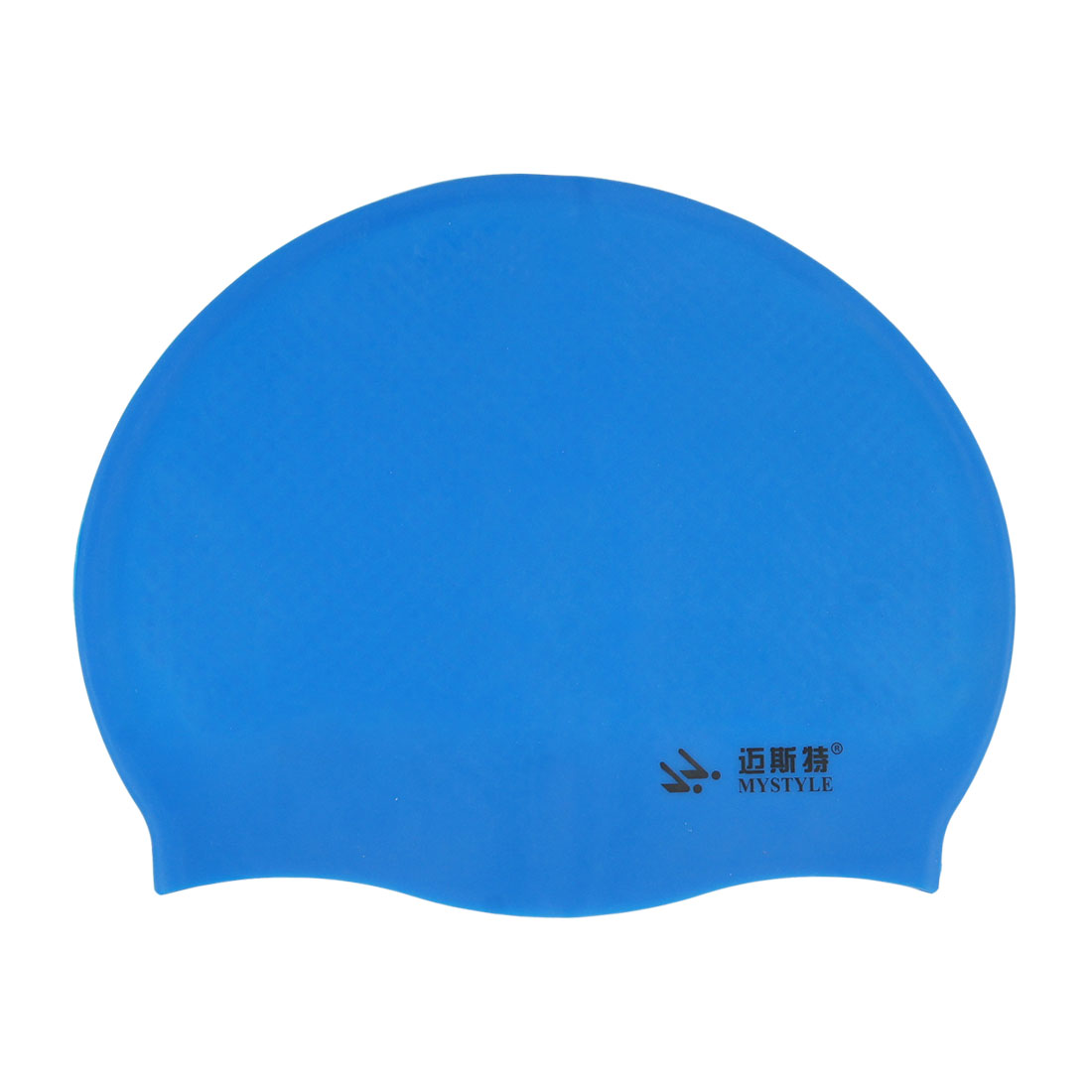 Blue Soft Silicone Waterproof Swimming Cap Hat for Adult Swimmer