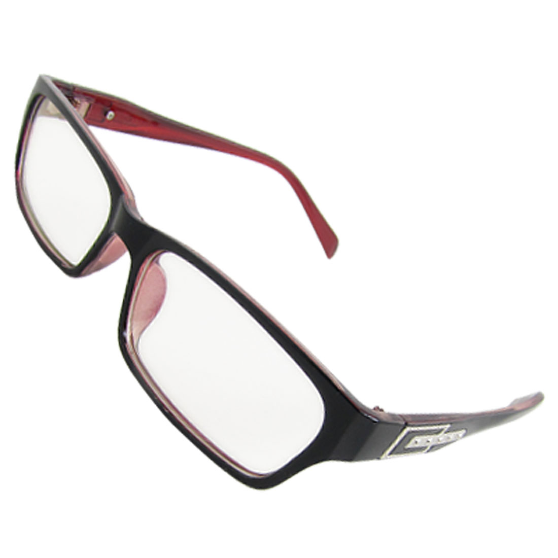 Ladies Black Red Plastic Multi-coated Lens Plano Glasses