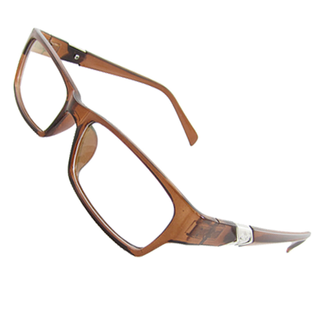 Ladies Plastic Brown Frame Multi-coated Lens Plain Glasses