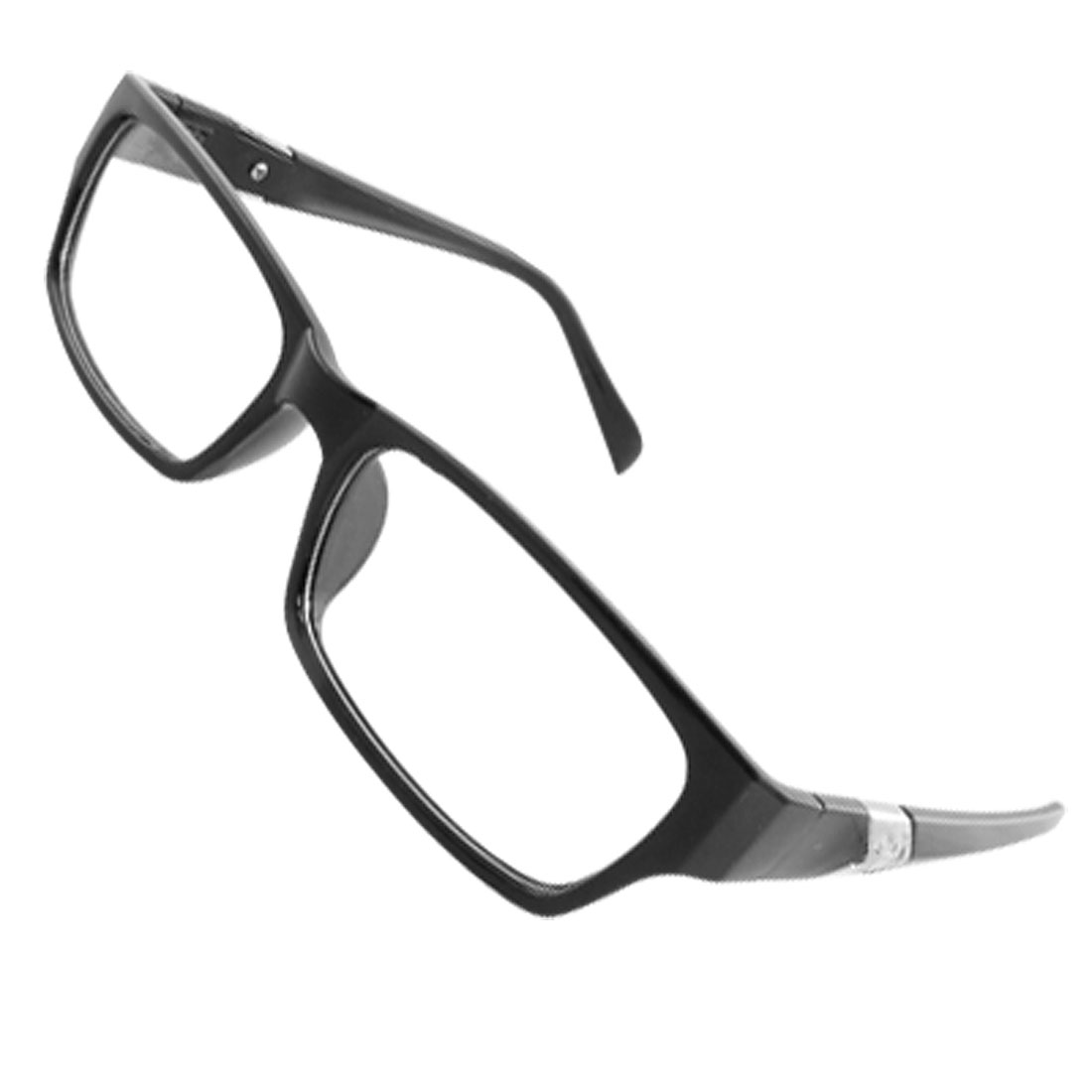 Ladies Black Plastic Full Rim Multi-coated Lens Plain Glasses
