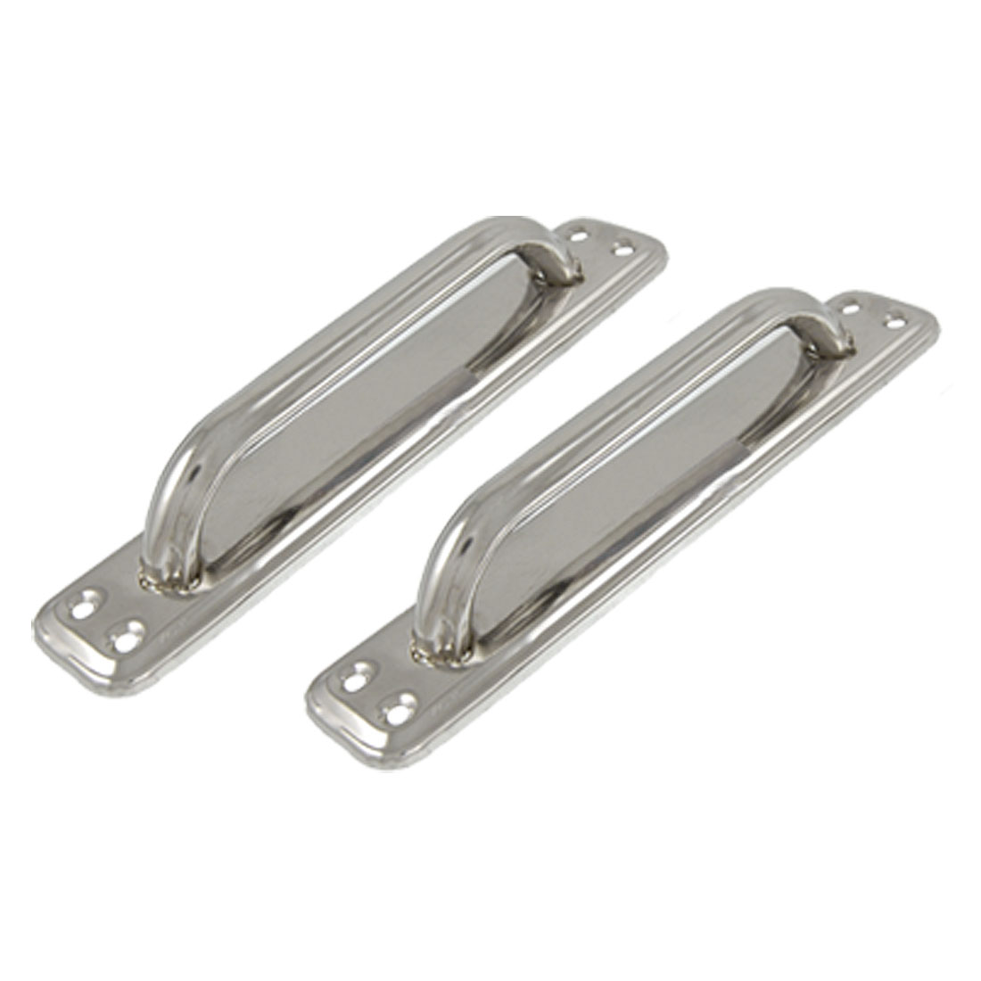"2 Pcs 7.9"" Silver Tone Rectangle Board Door Handle"