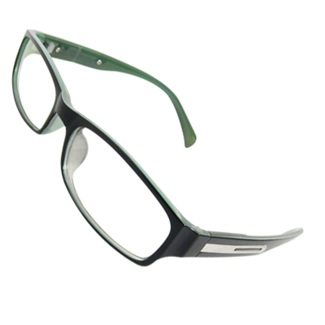 Ladies Black Green Full Frame Rectangular Multi Coated Lens Plano Glasses