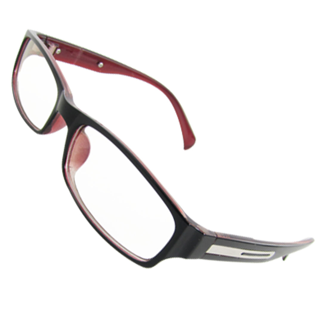 Ladies Multi Coated Lens Black Red Plastic Frame Arms Spectacles