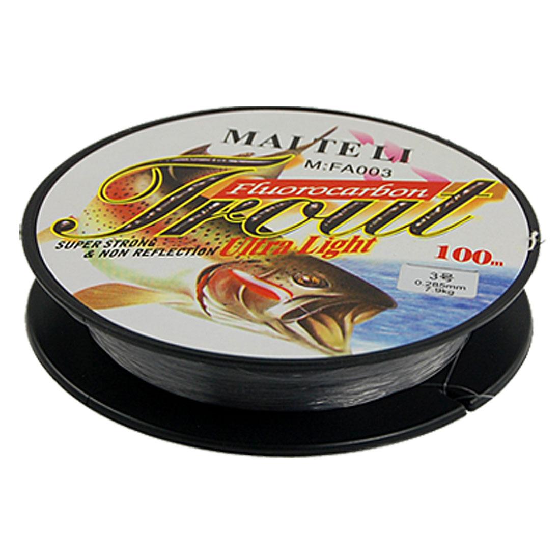 100m 0.285mm 3# 7.9kg Fish String Fishing Line Spool