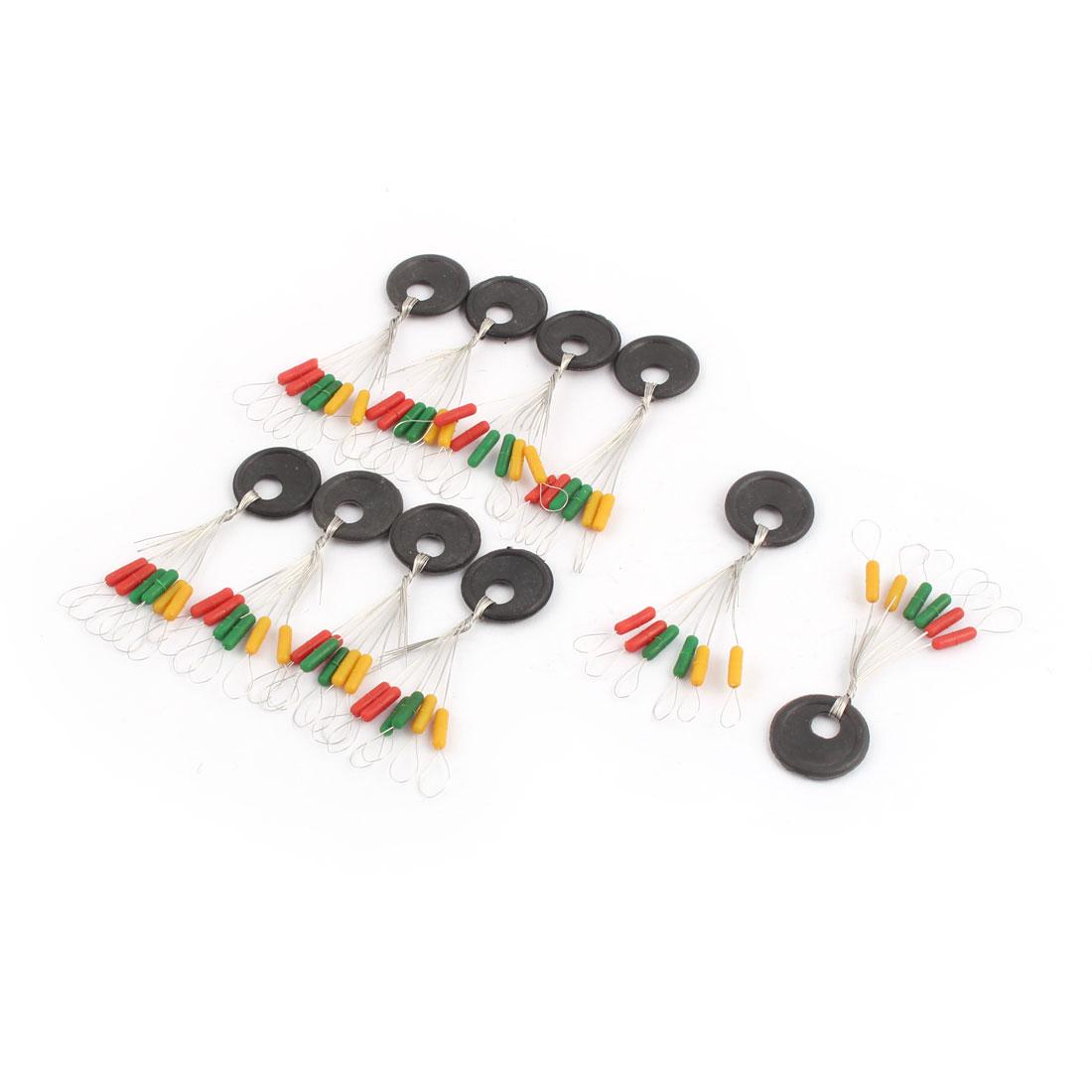 Fishing Tackle 6 in 1 Design Multicolor Plastic Floater Bobber Stopper 10 Pcs