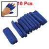 10 Pcs Blue Elastic Sports Hand Protector Sleeve Thumb Support for Finger
