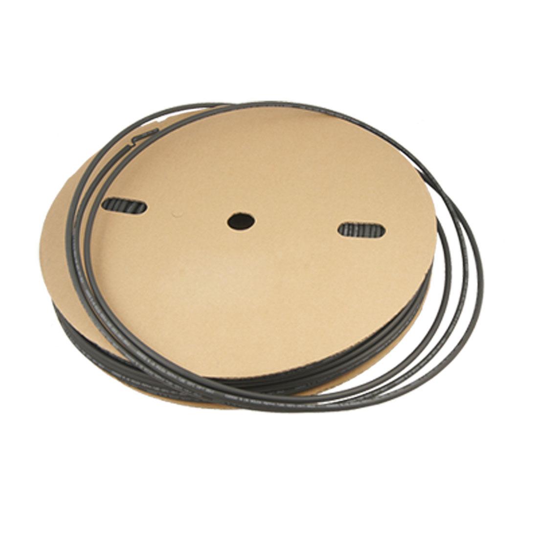 2:1 600V Black 100m Polyolefin 6mm Dia Heat Shrinkable Tubing