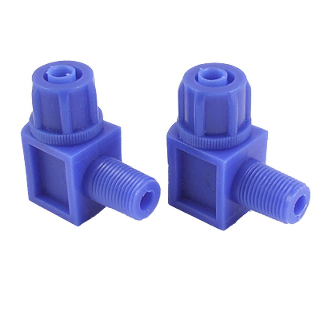 6 x 8mm Pipe Pneumatic Fitting Quick Connector 2 Pcs