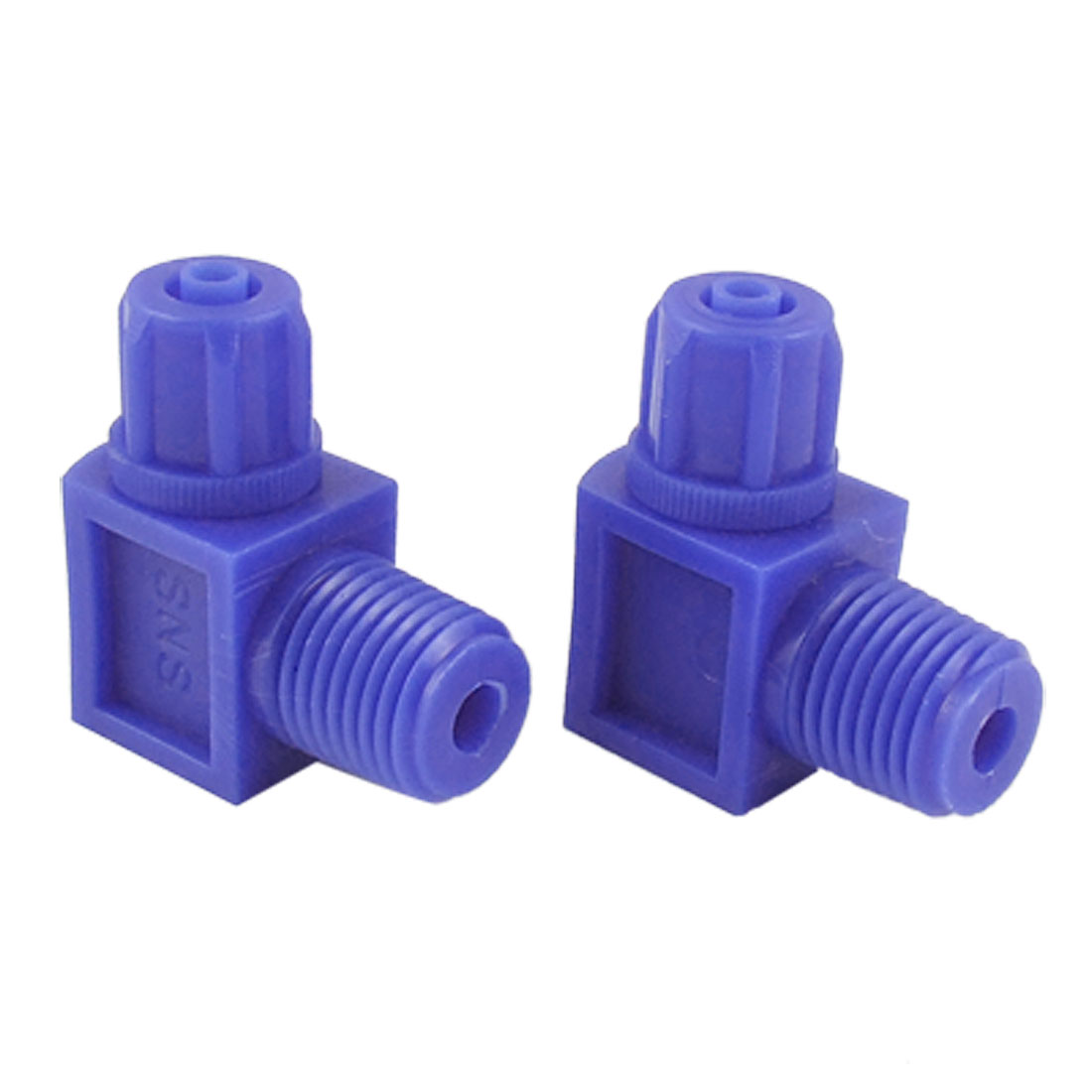 2 Pcs 13mm Thread 4 x 6mm Pipe Elbow Pneumatic Quick Coupler