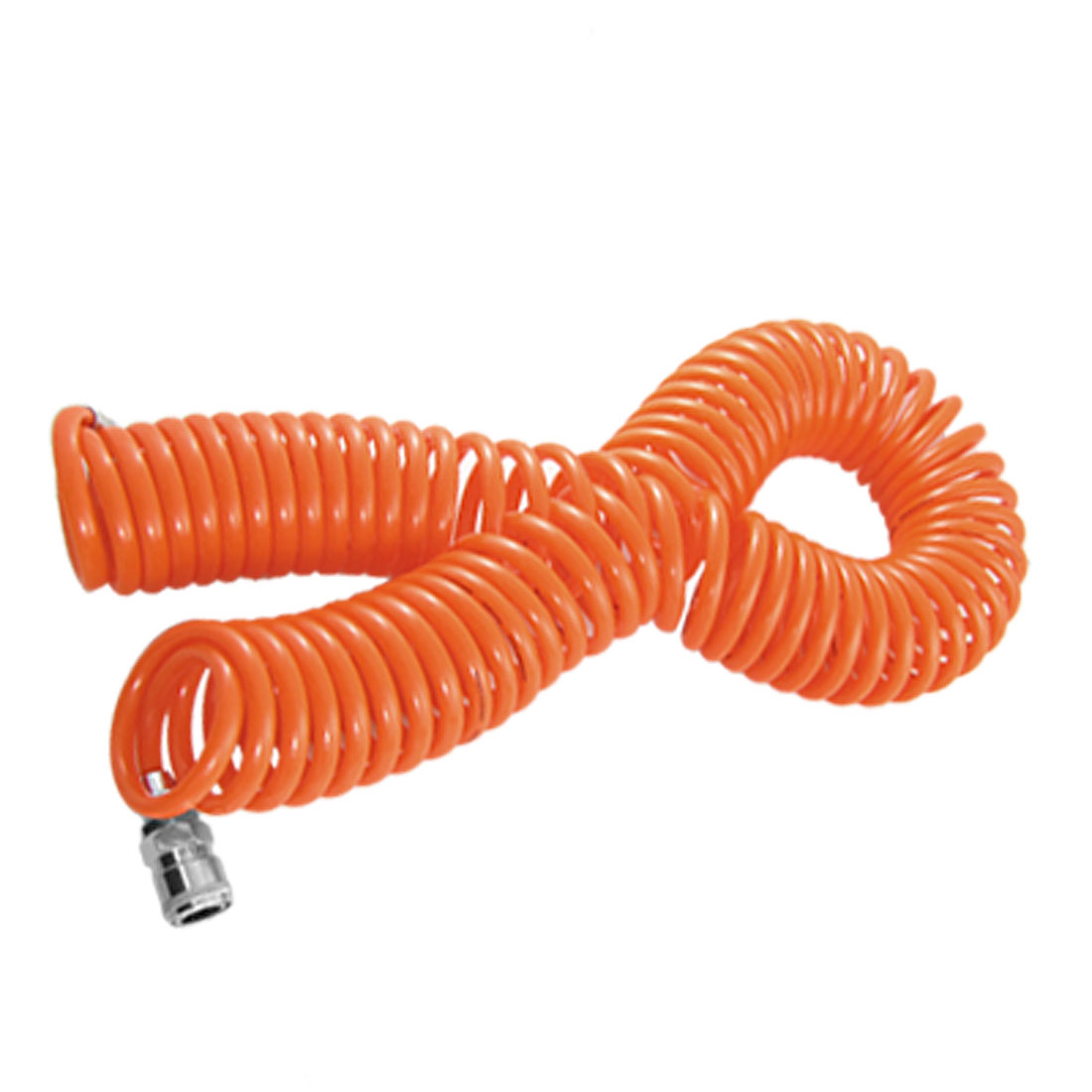 Carriable Orange Red 8mm x 5mm 15M Air Brake PU Coil Hose Tube