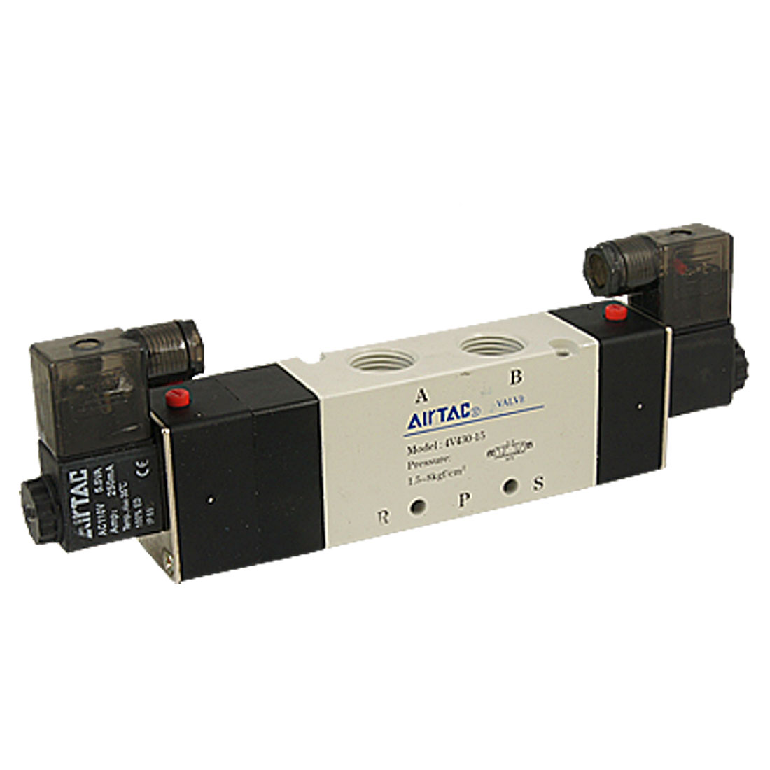AC 110V 4V430-15 3 Position 5 Way Air Control Solenoid Valve