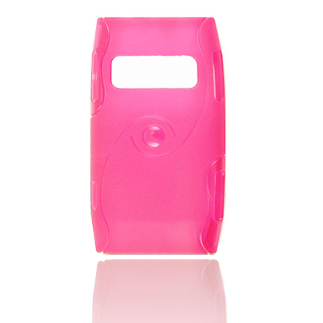 Semi Clear Magenta Flexible Plastic Case for Nokia X7