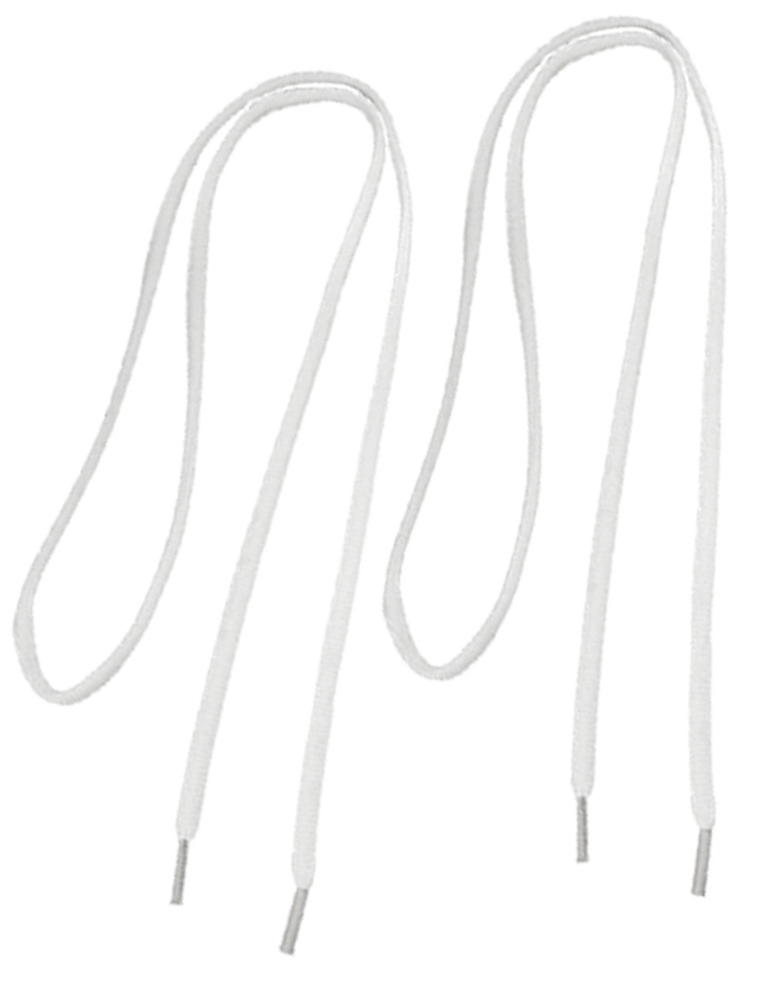 White Round Shoelaces Shoes Strings Replacement 2 Pairs