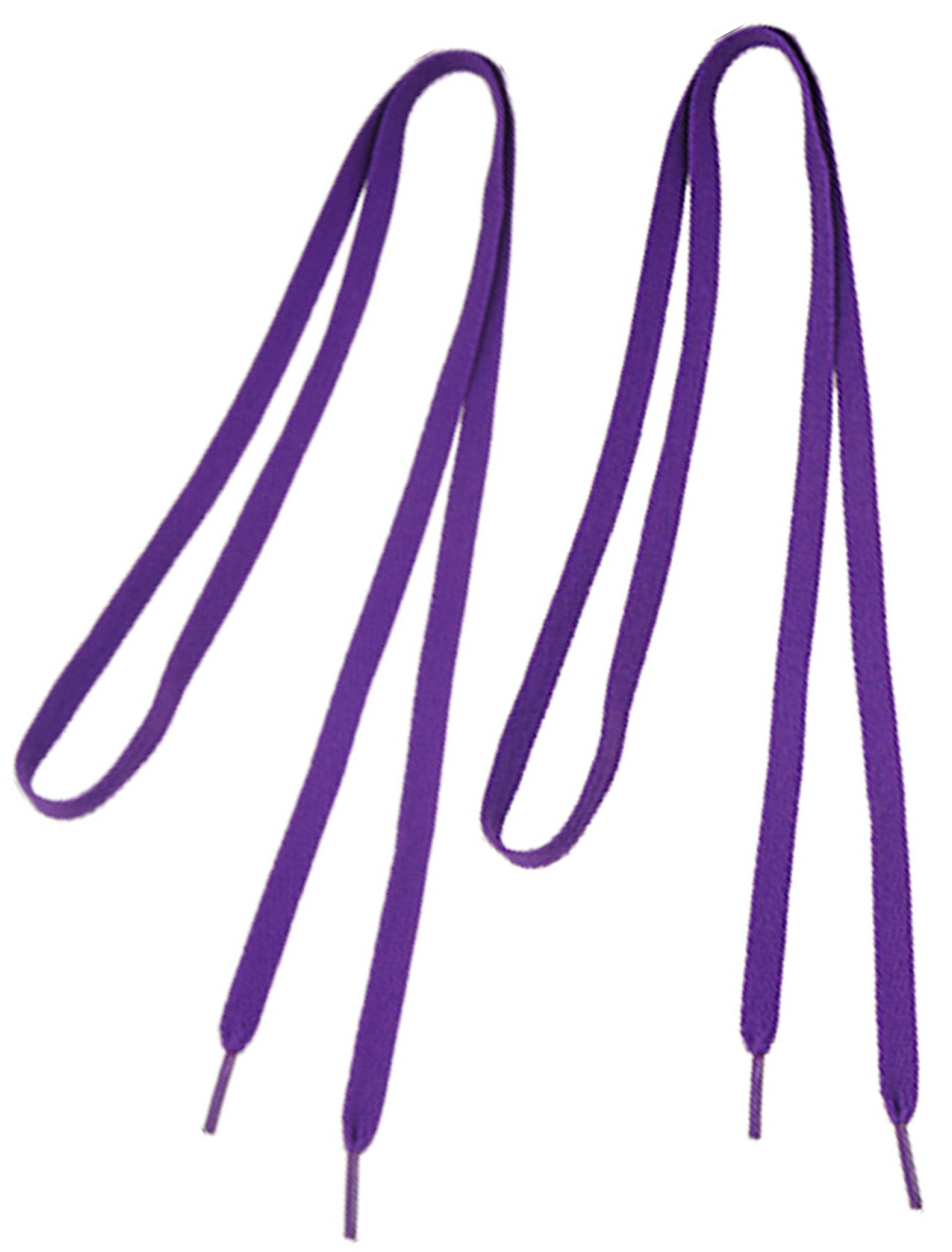2 Pairs Purple Flat Shoelaces Sports Shoes Strings Replacement for Lady